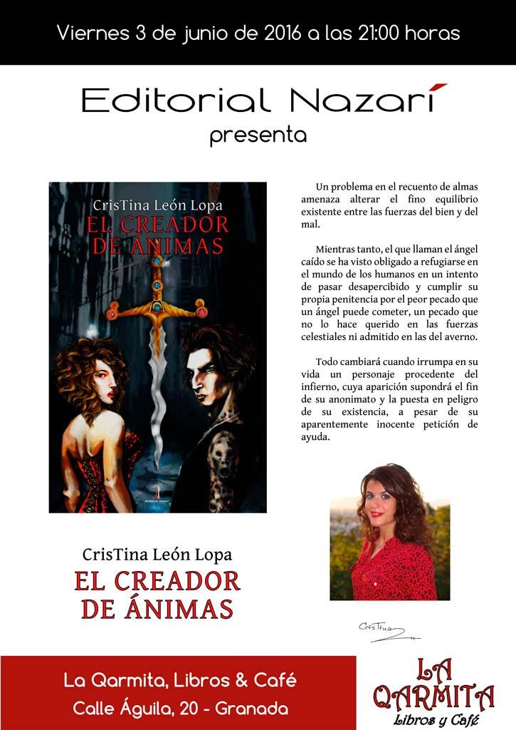 El creador de ánimas - Cristina León Lopa - La Qarmita Granada