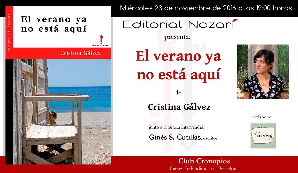 El verano ya no está aquí - Cristina Gálvez - Barcelona