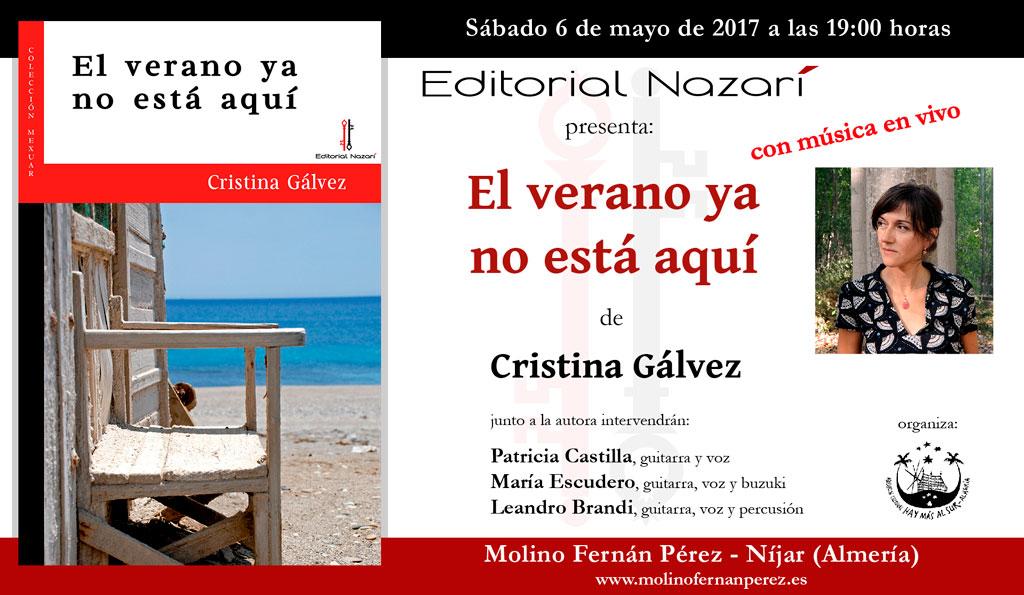 El verano ya no está aquí - Cristina Gálvez - Níjar