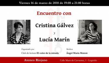 Encuentro con Cristina Gálvez y Lucía Marín en Logroño