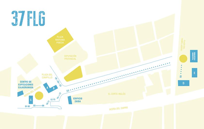 Feria del Libro de Granada - FLG18 - Mapa