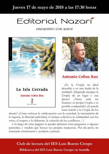 Antonio Cobos en el Club de lectura del IES Luis Bueno Crespo