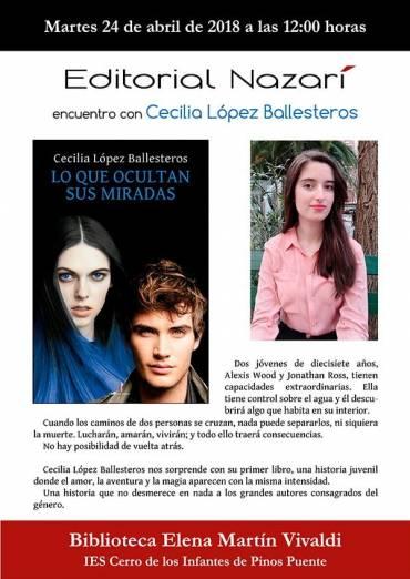 Cecilia López Ballesteros en el IES Cerro de los Infantes de Pinos Puente