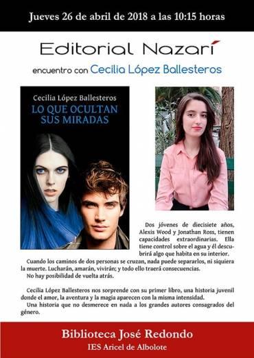 Cecilia López Ballesteros en el IES Aricel de Albolote