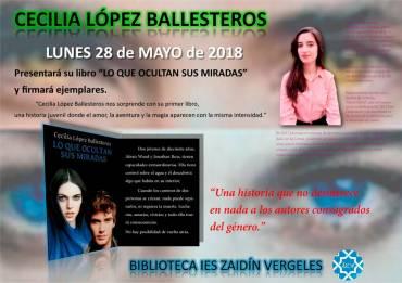 Cecilia López Ballesteros en el IES Zaidín Vergeles