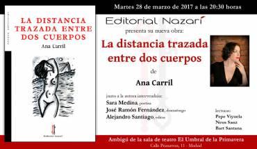 'La distancia trazada entre dos cuerpos' en Madrid