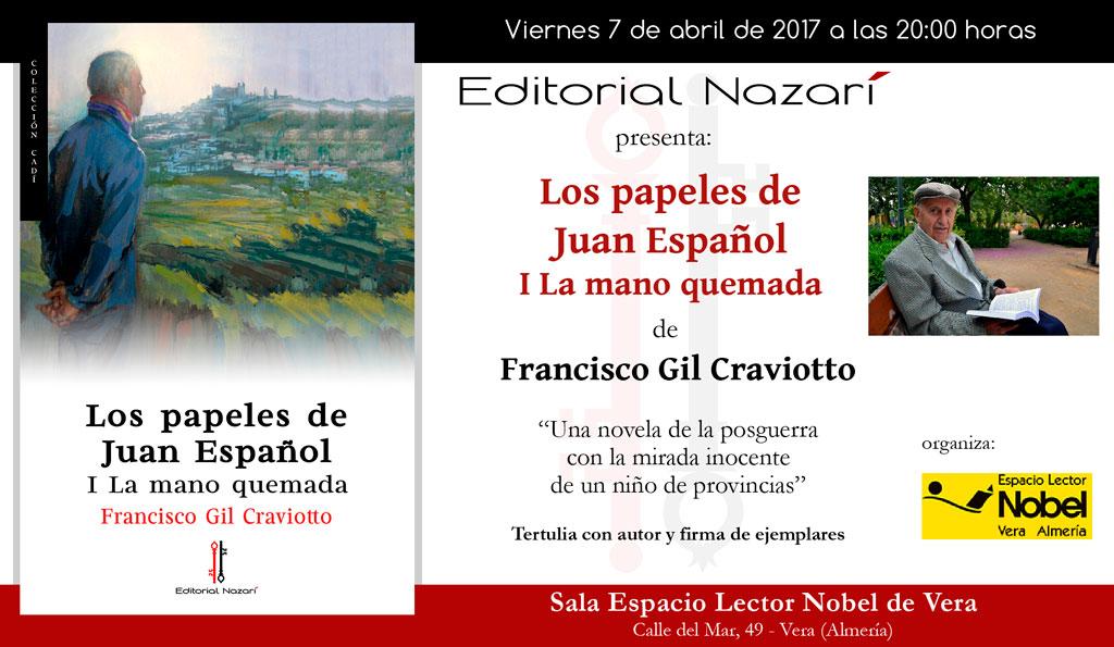 Los papeles de Juan Español. I La mano quemada - Francisco Gil Craviotto - Vera