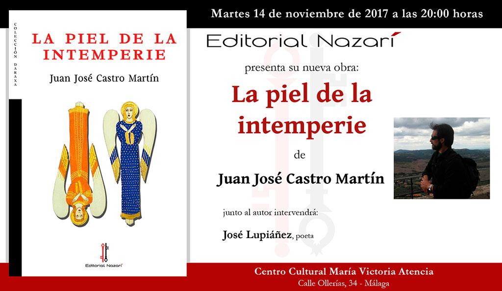 La piel de la intemperie - Juan José Castro Martín - Málaga