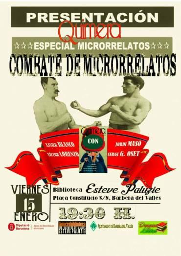 Combate de microrrelatos con Sergi G. Oset en Barberà del Vallès