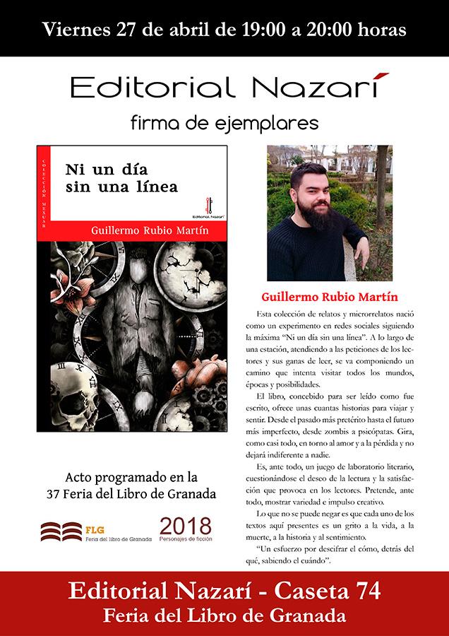 Ni un día sin una línea - Guillermo Rubio Martín - Feria del Libro de Granada - FLG18