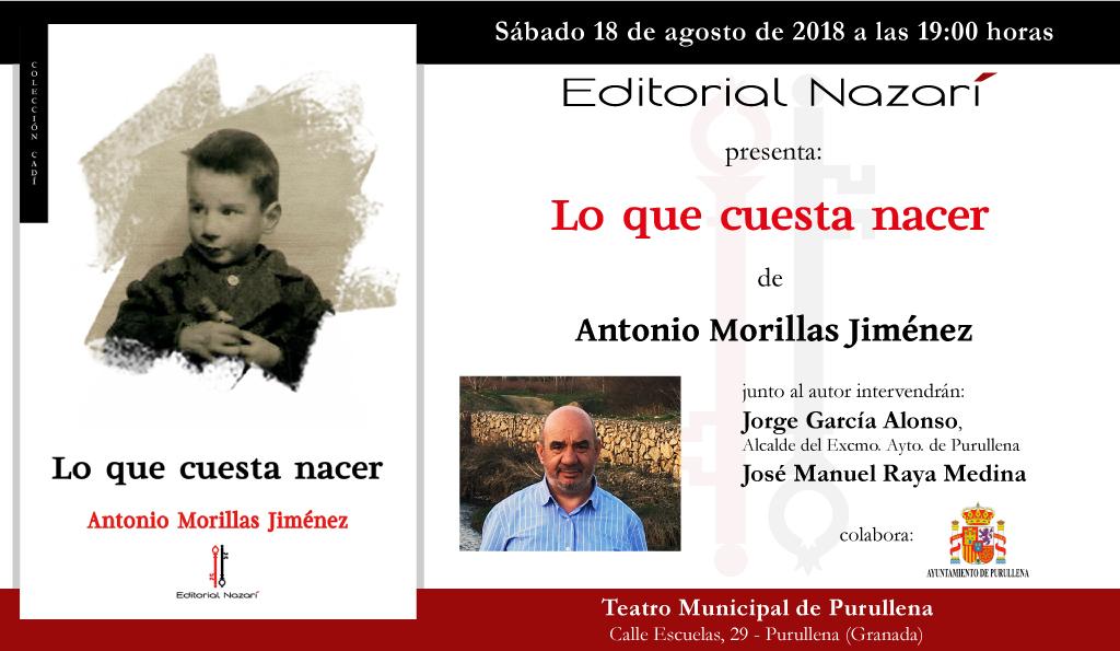 Lo que cuesta nacer - Antonio Morillas Jiménez - Purullena