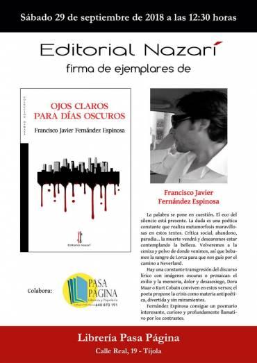'Ojos claros para días oscuros' en la Librería Pasa Página