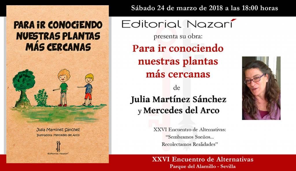 Para ir conociendo nuestras plantas - Julia Martínez Sánchez - Sevilla
