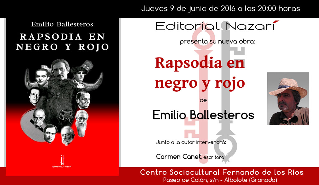 Rapsodia en negro y rojo - Emilio Ballesteros - Albolote