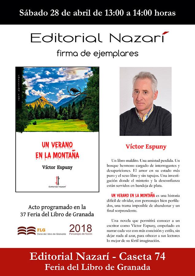 Un verano en la montaña - Víctor Espuny - Feria del Libro de Granada - FLG18