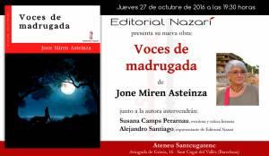 Voces de madrugada - Jone Miren Asteinza - Sant Cugat