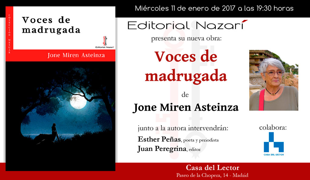 Voces de madrugada - Jone Miren Asteinza - Madrid