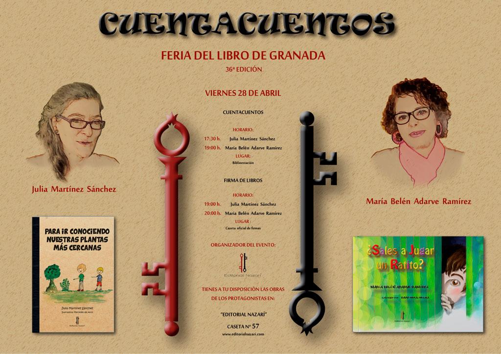 Julia Martínez Sánchez - María Belén Adarve Ramírez - Cuentacuentos Feria del Libro de Granada - FLG