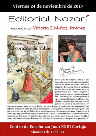 Encuentro con Victoria E. Jiménez Muñoz en el CE Juan XXIII-Cartuja de Granada
