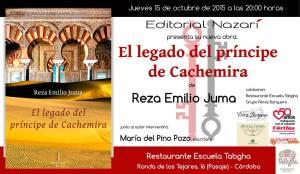 El legado del príncipe de Cachemira - Reza Emilio Juma - Restaurante Tabgha Córdoba