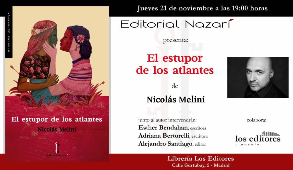 El estupor de los atlantes - Nicolás Melini - Librería Los Editores Madrid