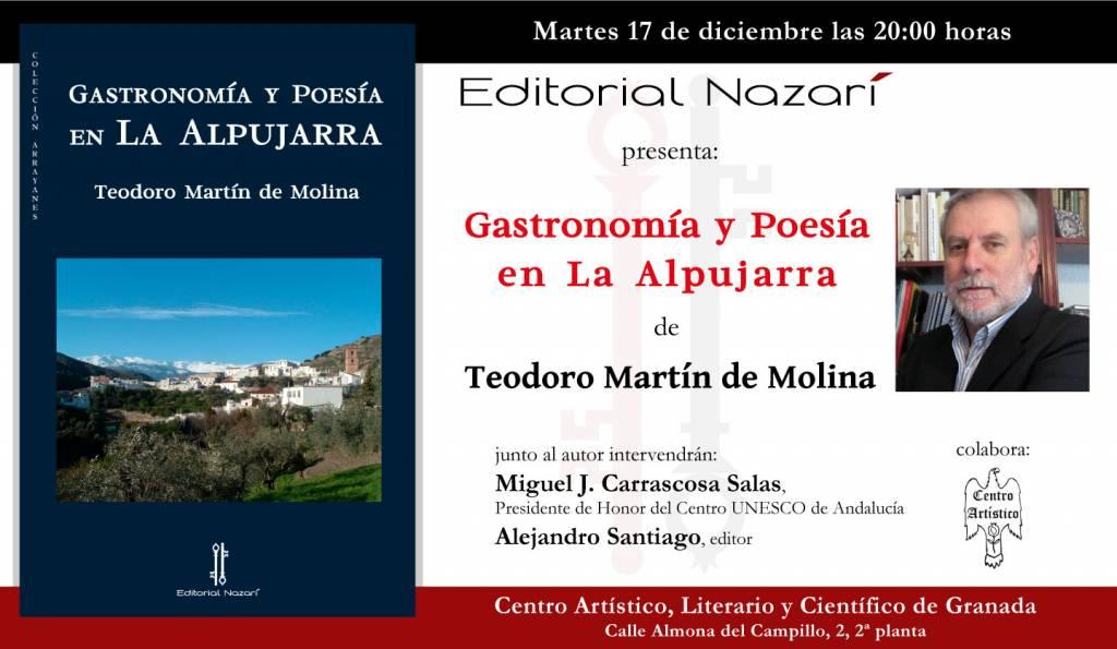 Gastronomía y poesía en La Alpujarra - Teodoro Martín de Molina - Centro Artístico - Granada