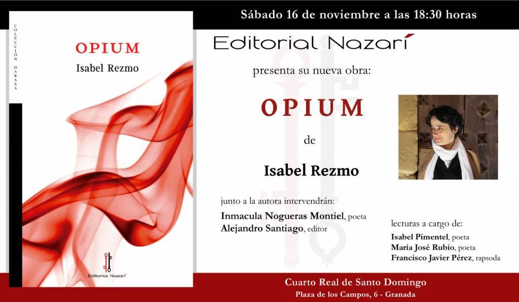 Opium - Isabel Rezmo - Cuarto Real de Santo Domingo Granada