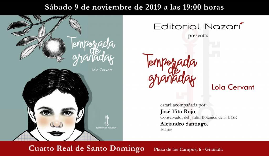 Temporada de granadas - Lola Cervant - Cuarto Real de Santo Domingo Granada