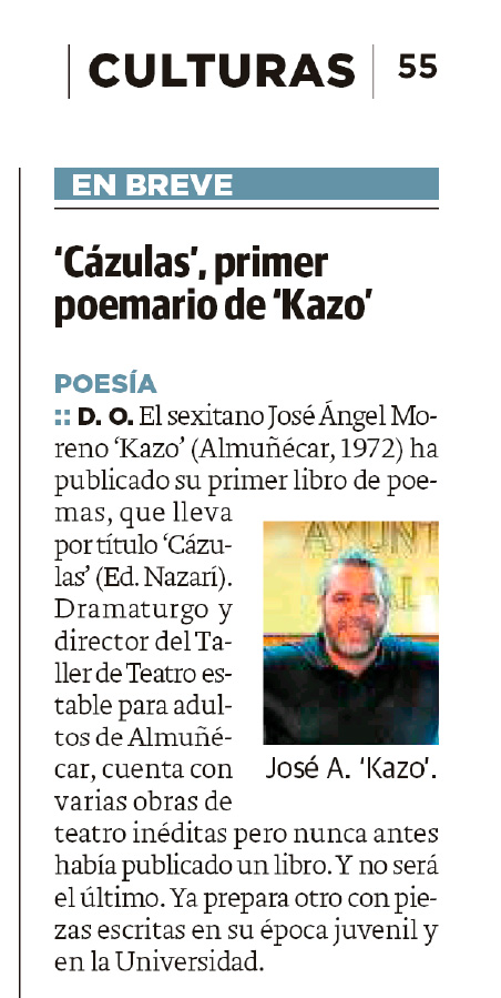 Cázulas - José Ángel Moreno Kazo - Ideal (31-10-2019)