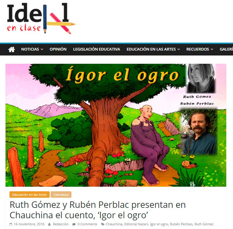 Ígor el ogro - Ruth Gómez - Ideal en Clase