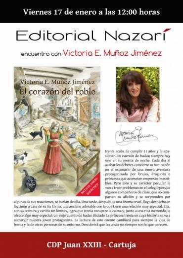 Encuentro de Victoria E. Muñoz Jiménez con alumnos del CEP Juan XXIII – Cartuja