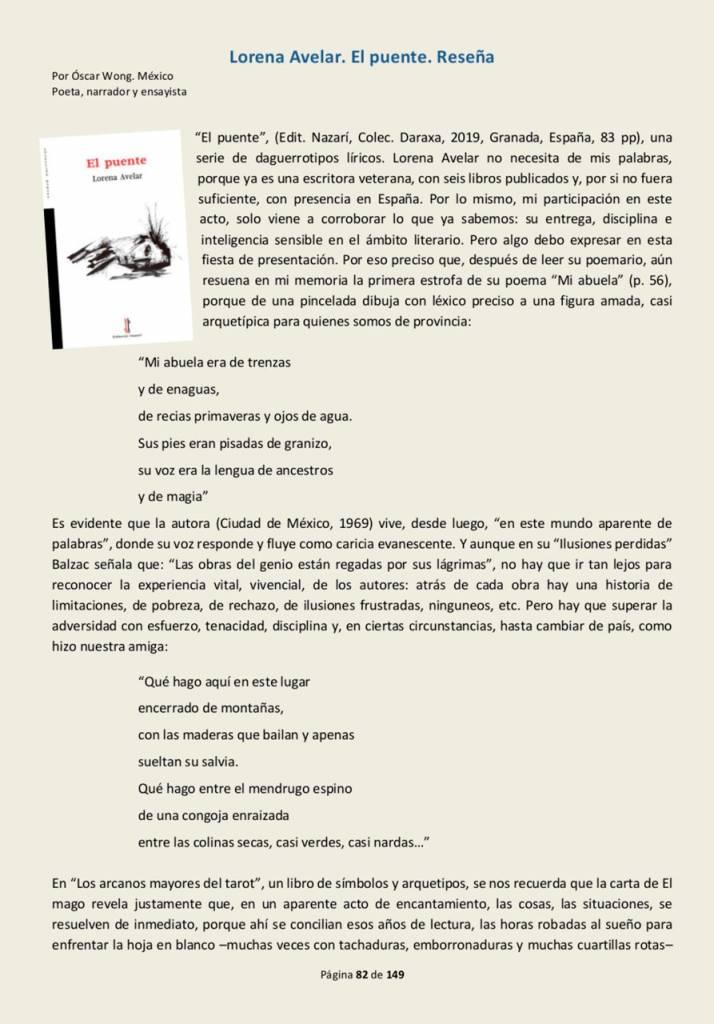 El puente - Lorena Avelar - De Sur a Sur (Febrero 2020) 01