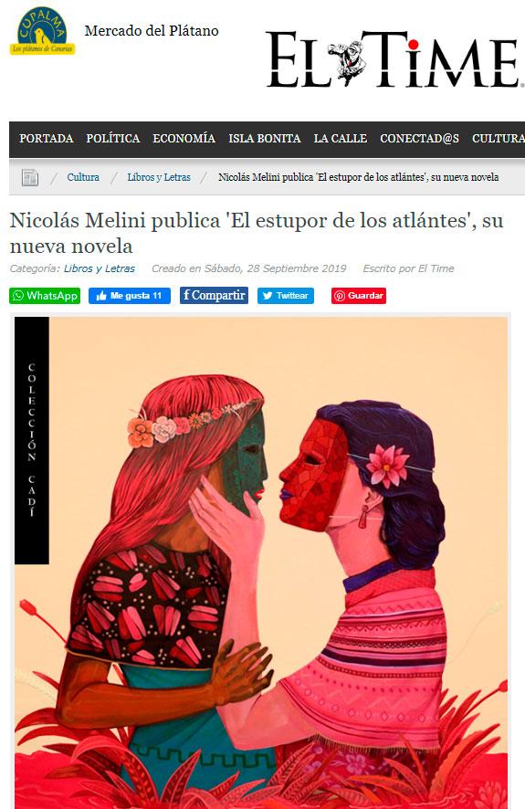 El estupor de-los atlantes - Nicolás Melini - ElTime.es