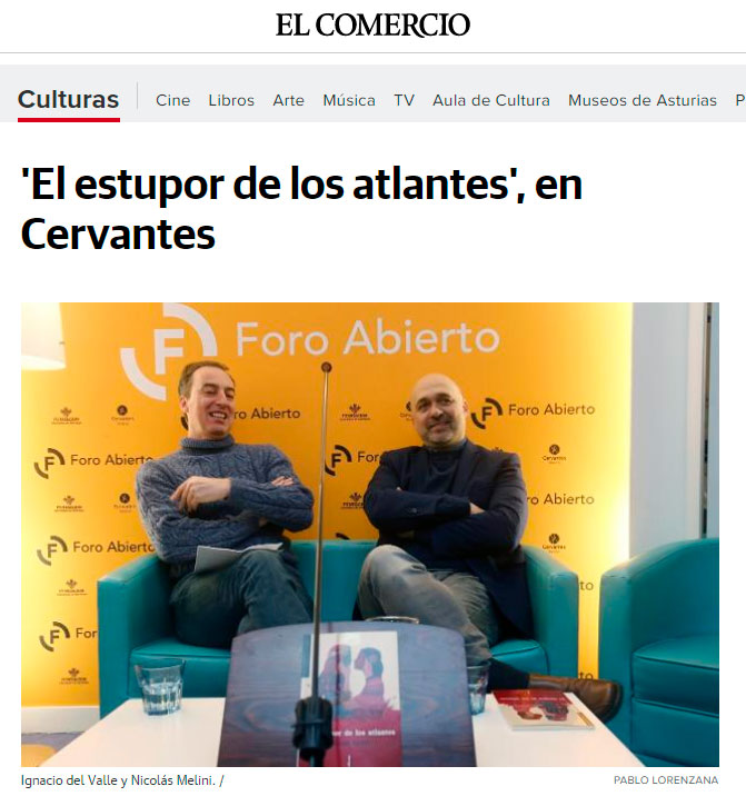 El estupor de los atlantes - Nicolás Melini - elcomercio.es