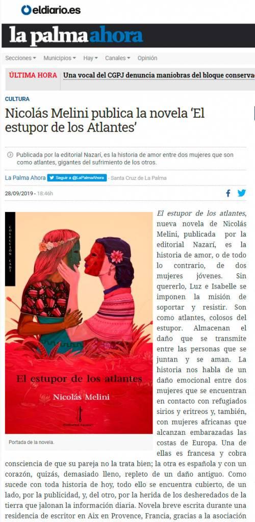 El estupor de-los atlantes - Nicolás Melini - eldiario.es