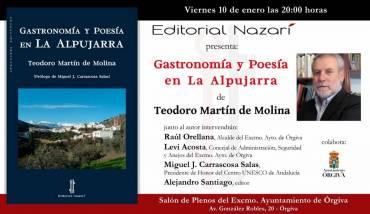 'Gastronomía y poesía en la Alpujarra' en Órgiva