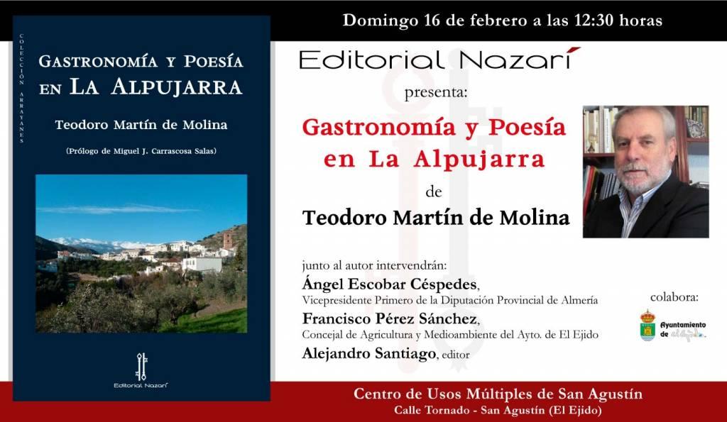 Gastronomía y poesía en La Alpujarra - Teodoro Martín de Molina - San Agustín El Ejido