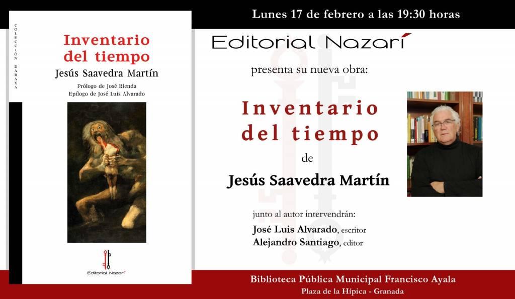 Inventario del tiempo - Jesús Saavedra Martín - Granada