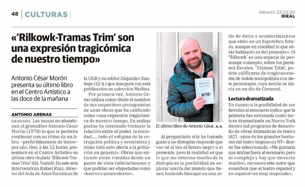 Rilkowk-Tramas Trim - Antonio César Morón - Ideal (22-02-2020)