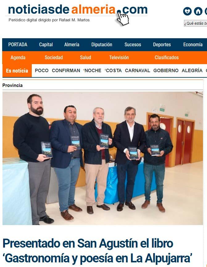 Gastronomía y poesía en La Alpujarra - Teodoro Martín de Molina - noticiasdealmeria.com