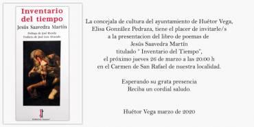 (Aplazado) 'Inventario del tiempo' en Huétor Vega