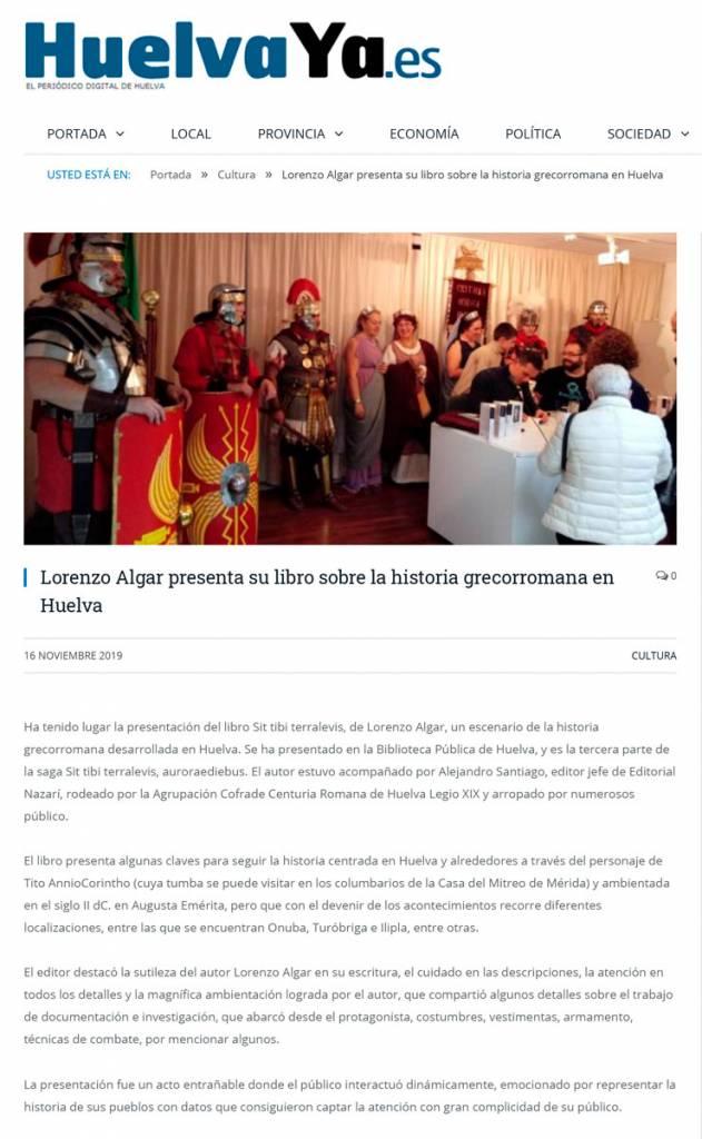 'Sit tibi terra levis' en HuelvaYa.es
