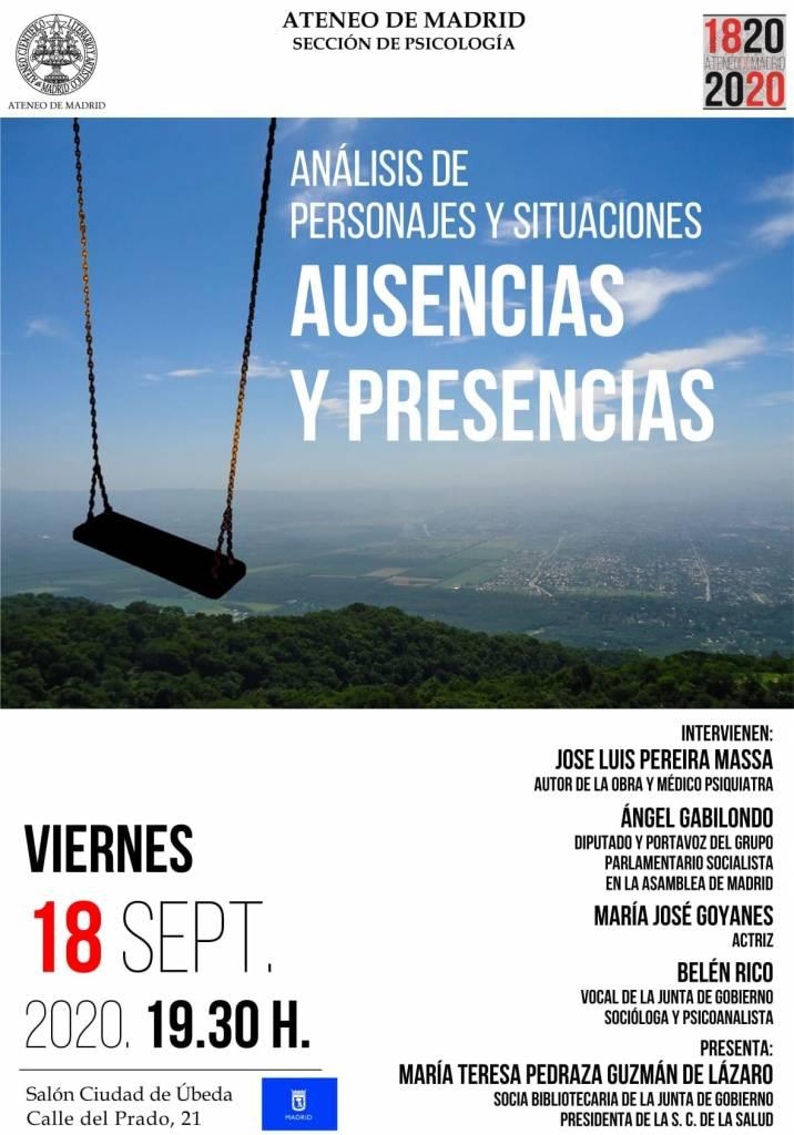 Presencias y ausencias - José Luis Pedreira - Ateneo de Madrid (18-09-2020)