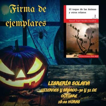 Firma de ejemplares de 'El toque de las ánimas y otros relatos' en Librería Solana