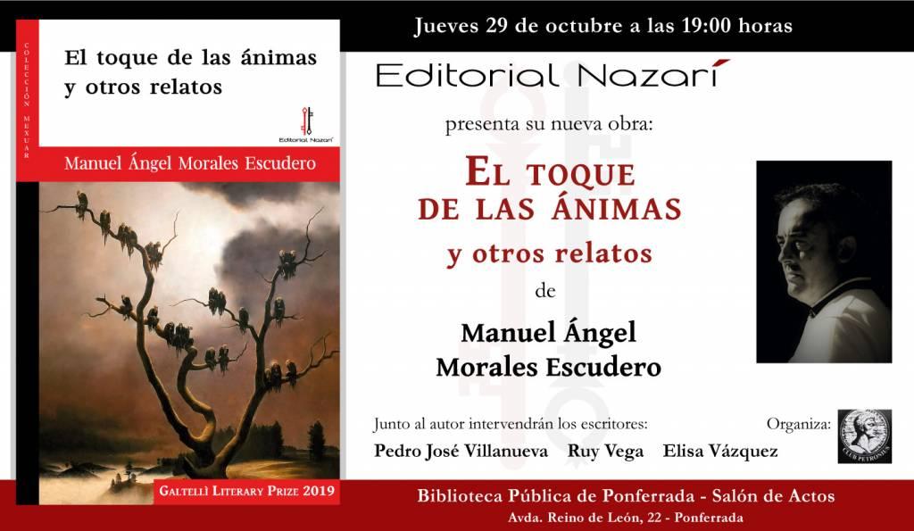 El toque de las ánimas y otros relatos - Manuel Ángel Morales Escudero - Biblioteca de Ponferrada - 29-10-2020