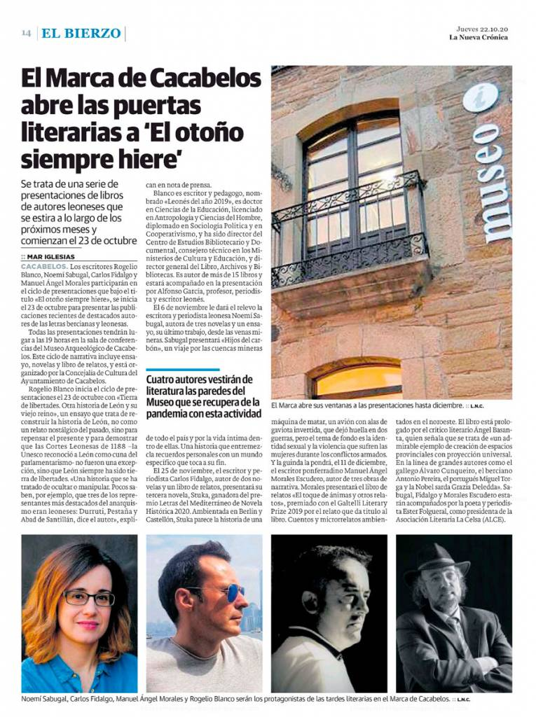 El toque de las ánimas y otros relatos - Manuel Ángel Morales Escudero - La Nueva Crónica (22-10-2020)