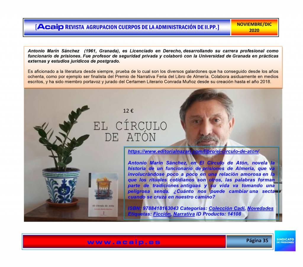 El Círculo de Atón - Antonio Marín Sánchez - 2020-11 Revista ACAIP_web-35