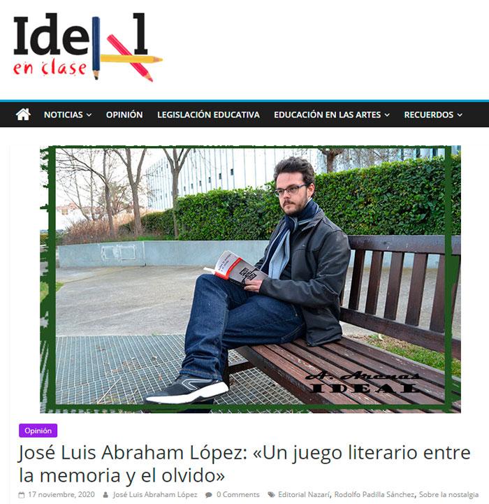Sobre la nostalgia y el olvido - Rodolfo Padilla Sánchez - José Luis Abraham López