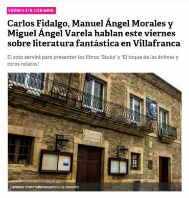 Charla sobre literatura fantástica con Manuel Ángel Morales Escudero