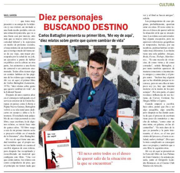 Me voy de aquí - Carlos Battaglini - Diario de Lanzarote 06-12-2020